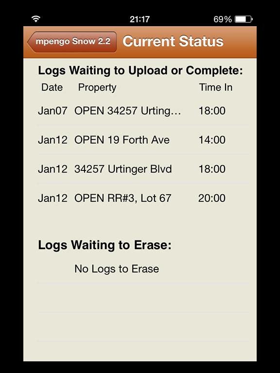 Logs to Complete